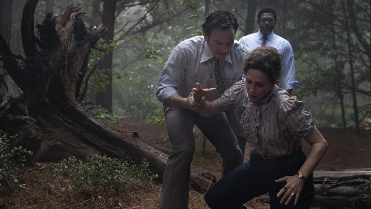 """Patrick Wilson och Vera Farmiga i """"The conjuring: The devil made me do it""""."""