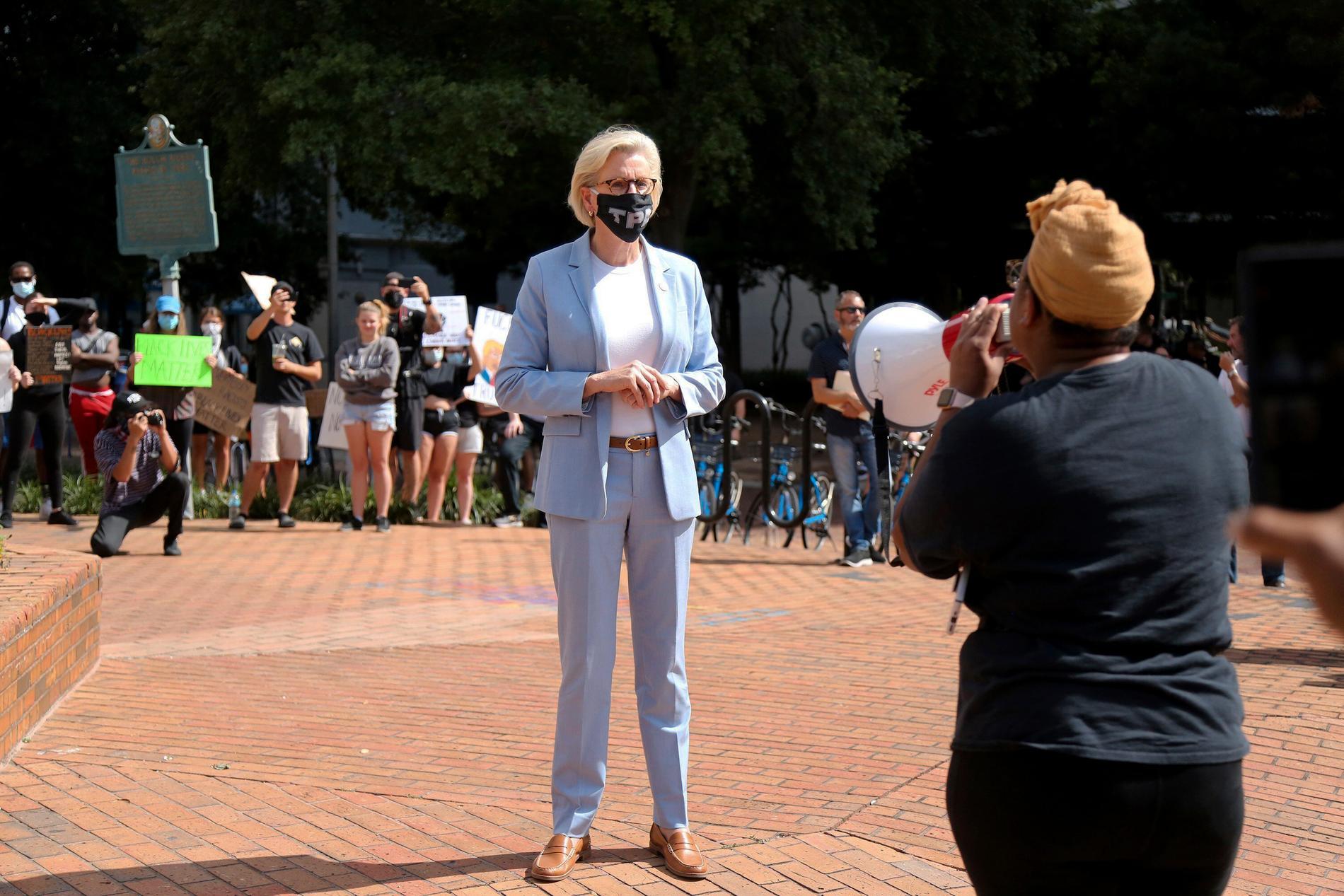 Jane Castor, borgmästare i Tampa.