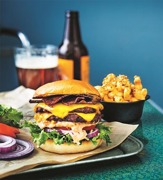 Klassisk amerikansk burgare – veganskt recept.