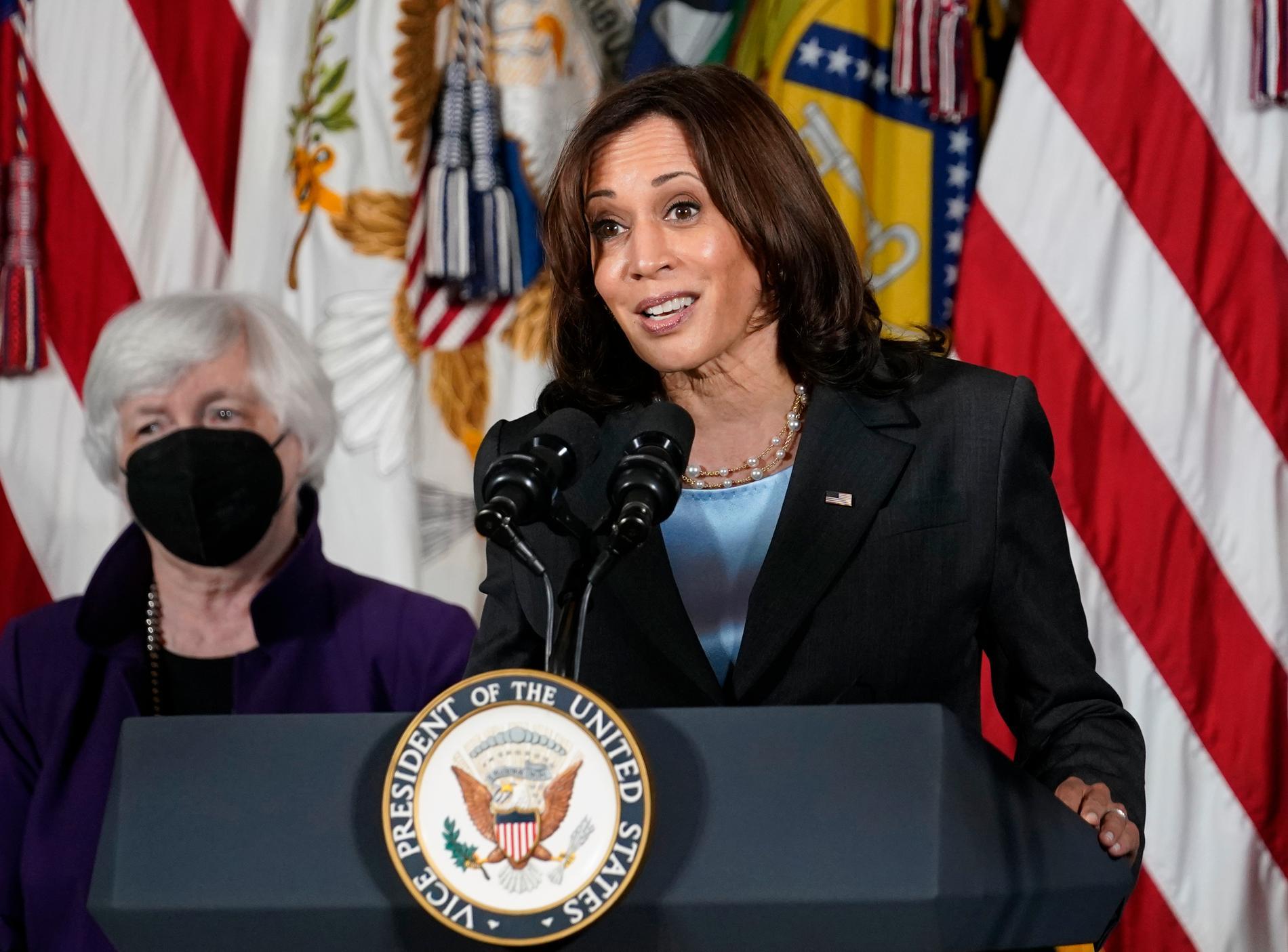 USA:S vicepresident Kamala Harris.