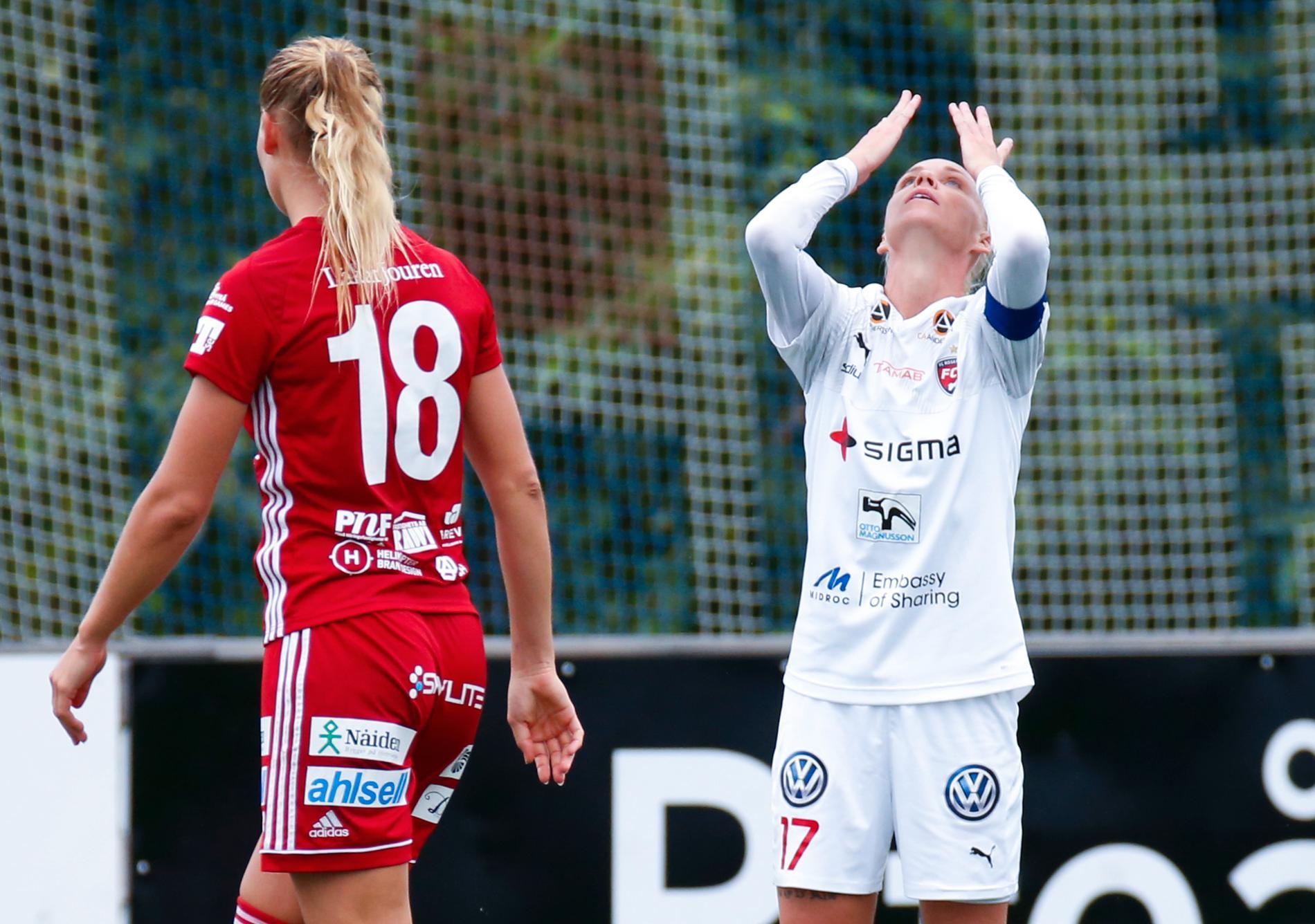 Rosengård är på väg att korttidspermittera sina spelare, exempelvis landslagsstjärnan Caroline Seger. Arkivbild.