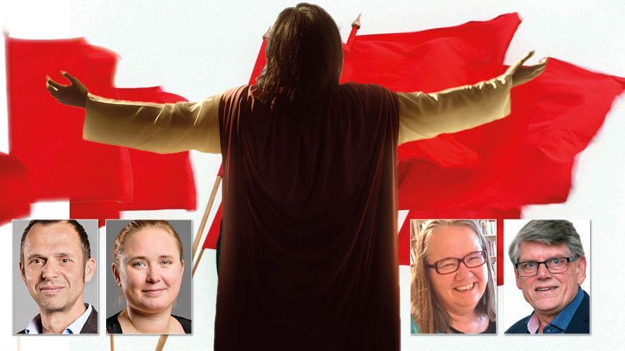 För oss som kristna socialister är inte vår tro bara en inre angelägenhet, att kunna krypa upp i soffan och be en bön och känna oss trygga och omslutna i vår egen lilla bubbla, skriver de kristna vänsterpolitikerna Jens Holm, Elin Segerlind, Mona Olsson och Mats Högelius.