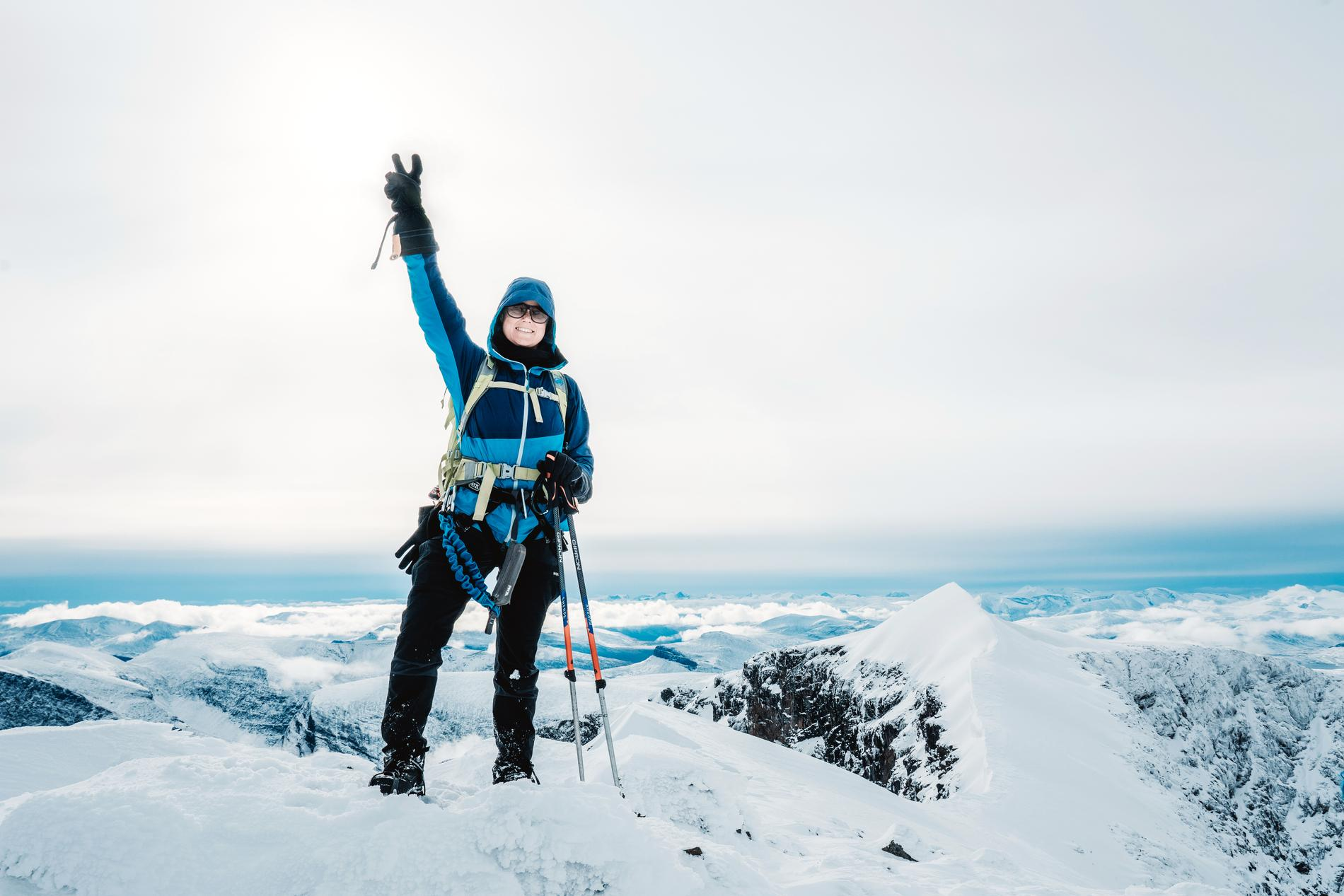 Att ta sig till toppen på Kebnekaise var en favoritupplevelse.