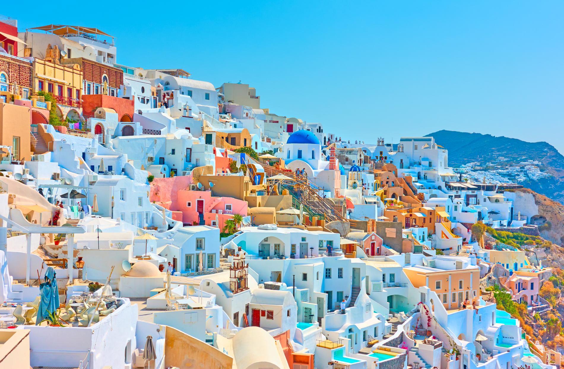 Santorini är full av pittoreska hus.
