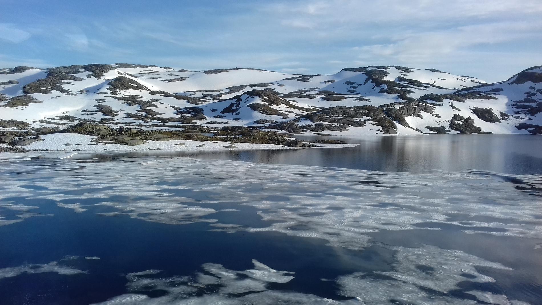 Hardangerjøkulen och staden Finse ligger i Norge.