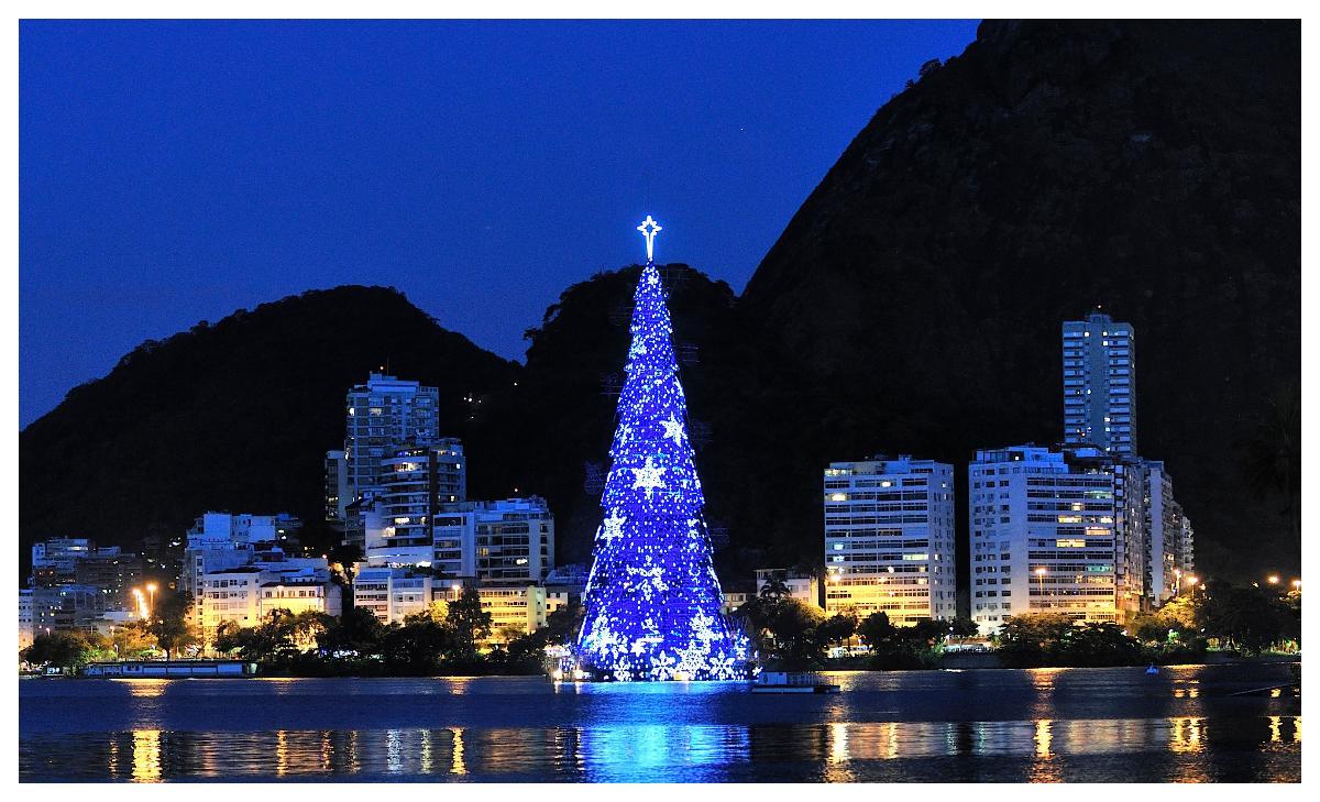 I Rio de Janeiro ser julgranen ut så här.