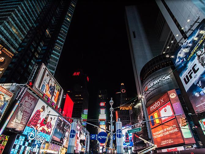 Times Square på Manhattan.