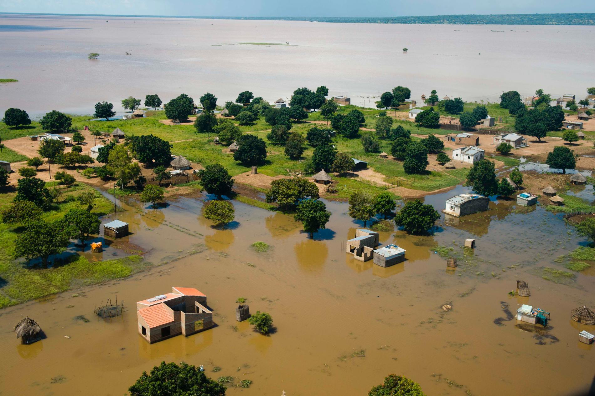 Moçambique drabbas regelbundet av svåra översvämningar. Bilden är tagen år 2013. Arkivbild.