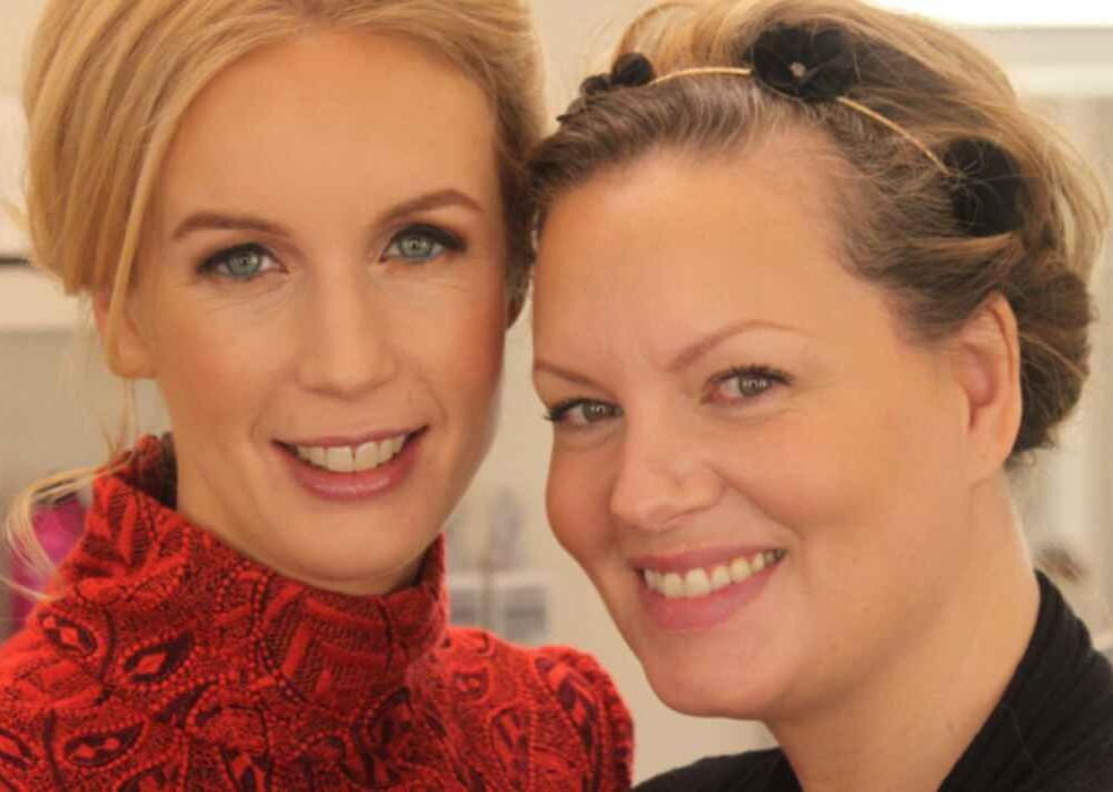 Carina tillsammans med vännen Jenny Strömstedt.