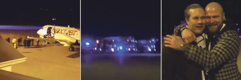 Leksand landade i Borlänge strax före 02 natten mot lördag.