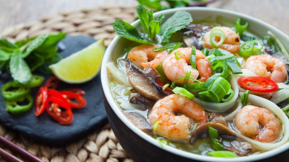 Pho – vietnamesisk nudelsoppa.