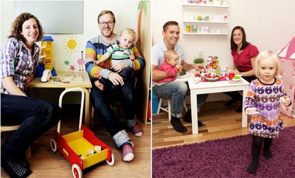 Budget vs lyx Familjen Dahlberg/Moosmann la ut 1 341 kronor för barnvagn, bärsele, overall, lära gå-vagn och babysitter. Familjen Ahlehjelm valde att köpa det mesta nytt och la ut 14 768 kronor för samma typ av produkter.