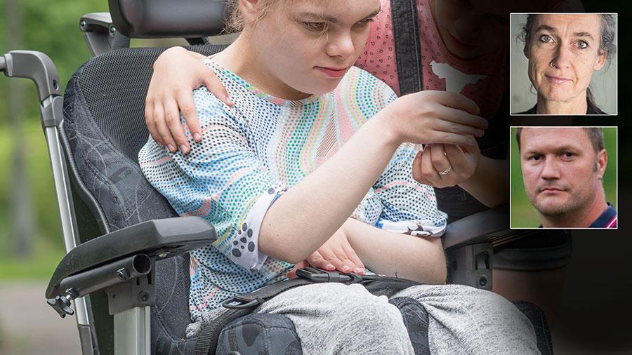 För unga med omfattande fysiska funktionsnedsättningar har ingen ny corona-information kommit sedan i maj. Myndigheterna sa då att barn aldrig kan tillhöra en riskgrupp. Men det här handlar om barn som knappt kan andas själva ens när de är friska, skriver Maria Persdotter och Johan Klinthammar.