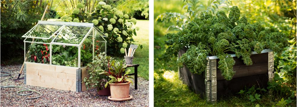 Bygg på med fönster till ett växthus eller måla trendigt svart.