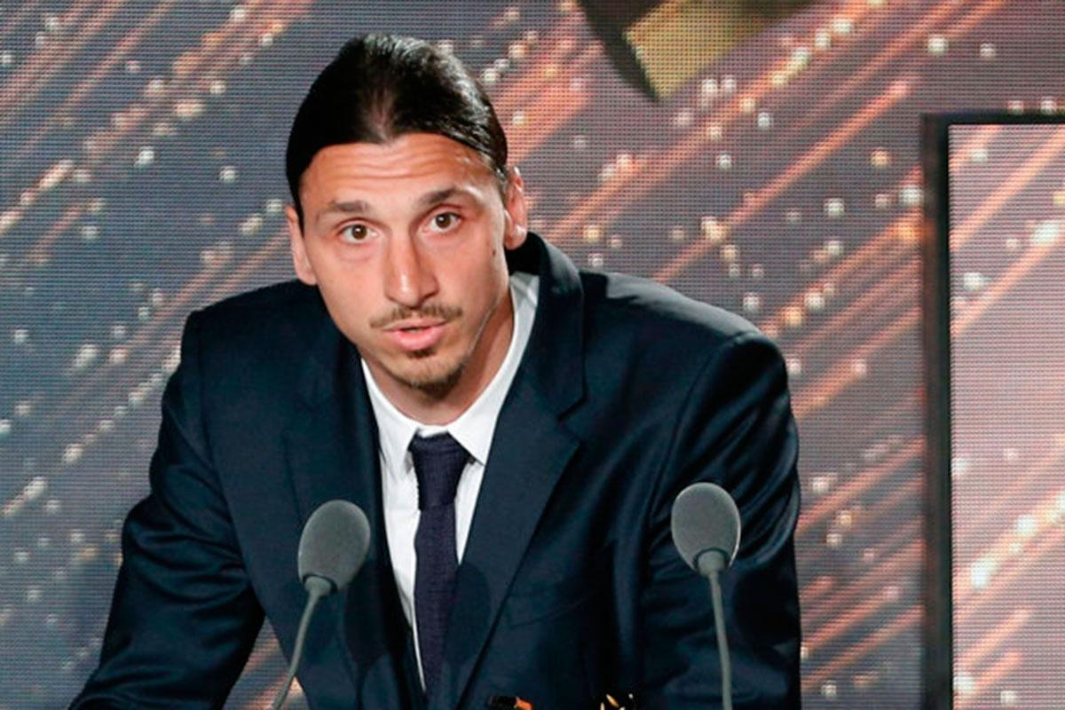 Zlatan Ibrahimovic fick ta emot priser vid en gala i helgen.