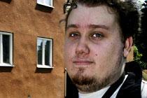 """""""Det är ingen rolig stämning här"""", säger Johan Arkhed, 24."""