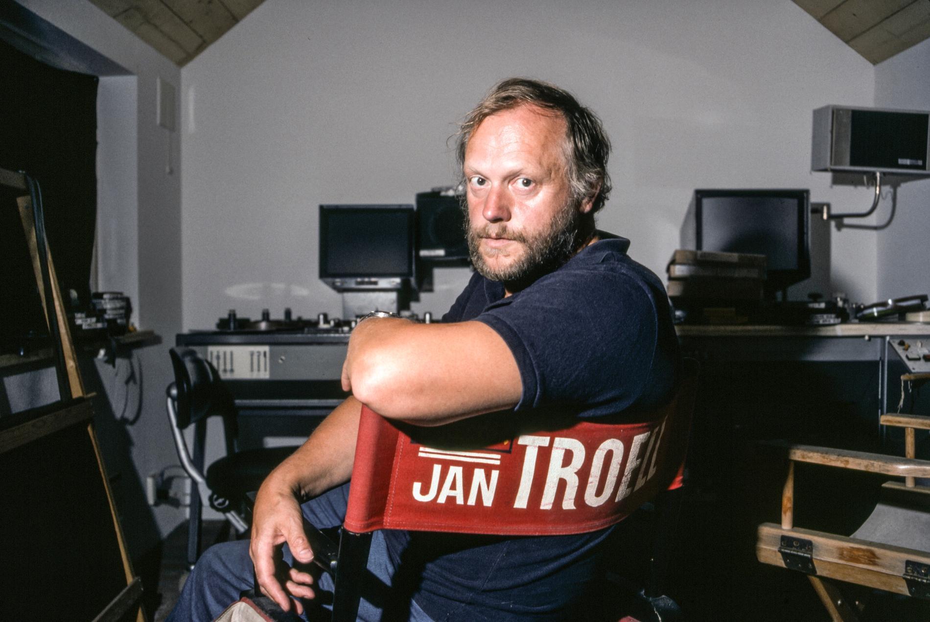 Jan Troell i regissörsstolen 1983.