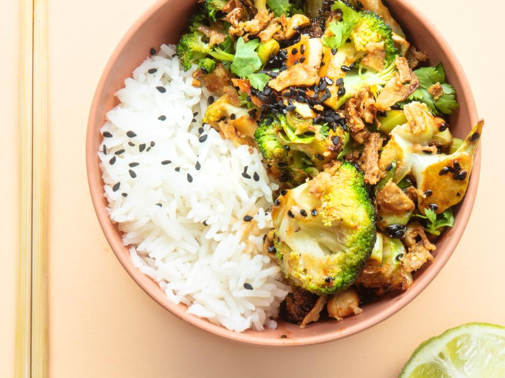 Broccoliwok med ris