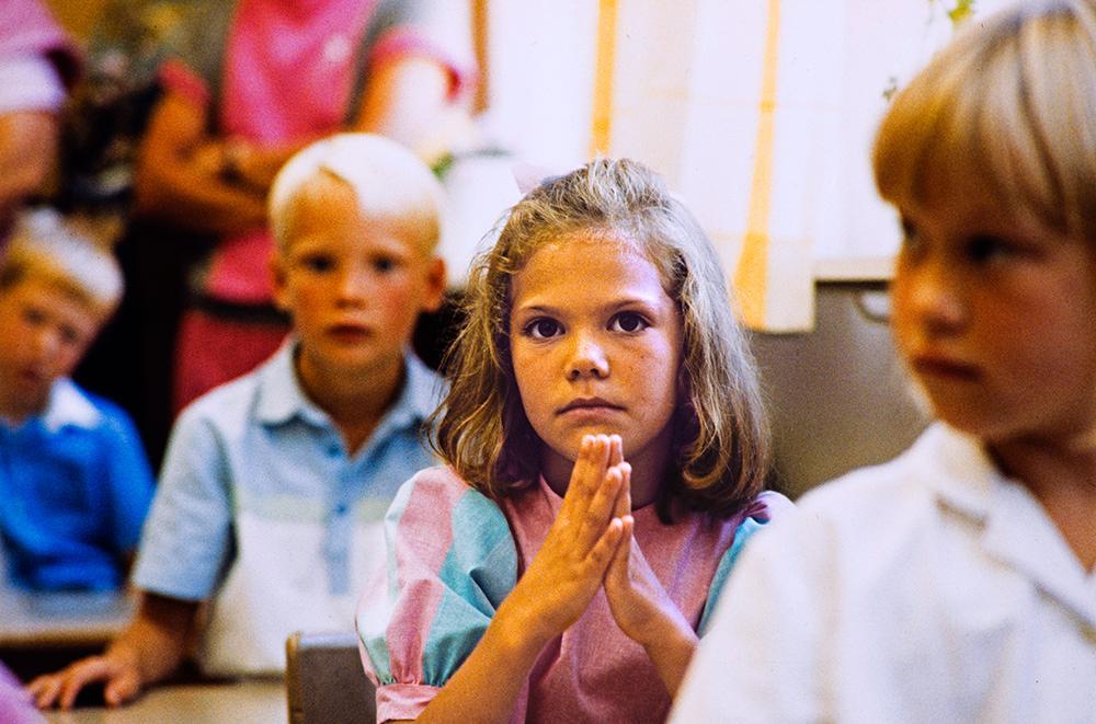 Kronprinsessan Victoria började i första klass på Smedslättskolan i Bromma.