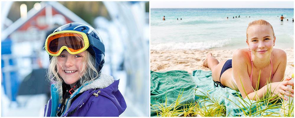 Backe eller beach? Svenskarna väljer hellre snö framför strand på sportlovet, men det är ändå många som längtar efter sol.
