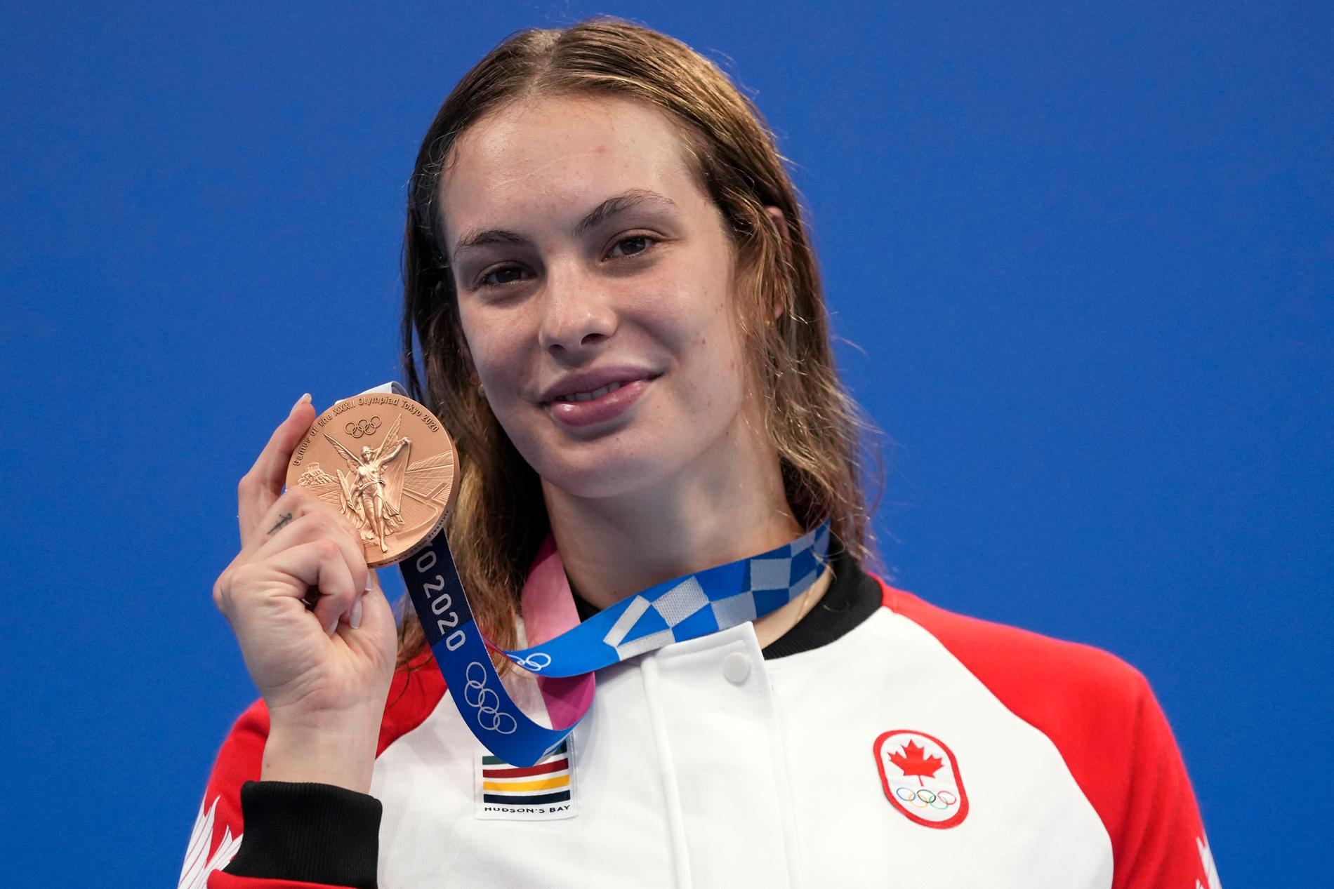 Penny Oleksiak är nu uppe i sex OS-medaljer i karriären.