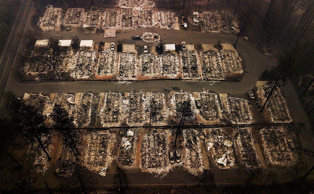Staden Paradise i Kalifornien, USA, utplånades i en skogsbrand 2018.