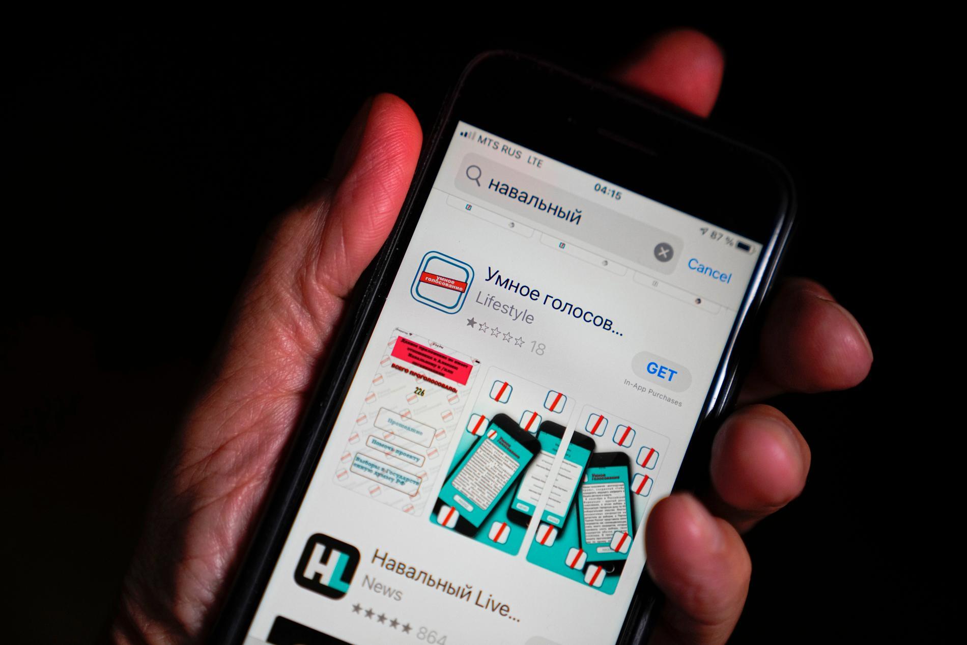Borta ur Googles och Apples app-butiker. Arkivbild.