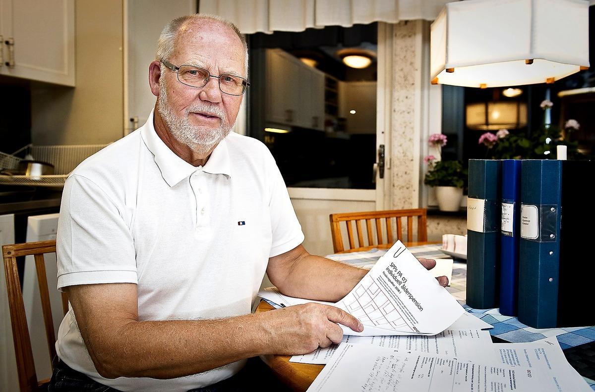 Hans Broman har sin pension i SPP och är upprörd över att han i ett annat bolag skulle kunna få ut 40 procent mer varje månad.
