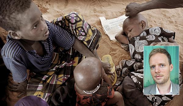 """Robert Höglund, Oxfam, skriver att över tolv miljoner människor står inför svår hunger i Östafrika. Men det är bara en föraning om vad som komma skall: """"I takt med stigande temperaturer kommer fler hungerkriser att uppstå""""."""