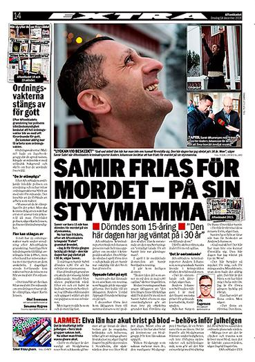 Aftonbladet 14 december 2016.
