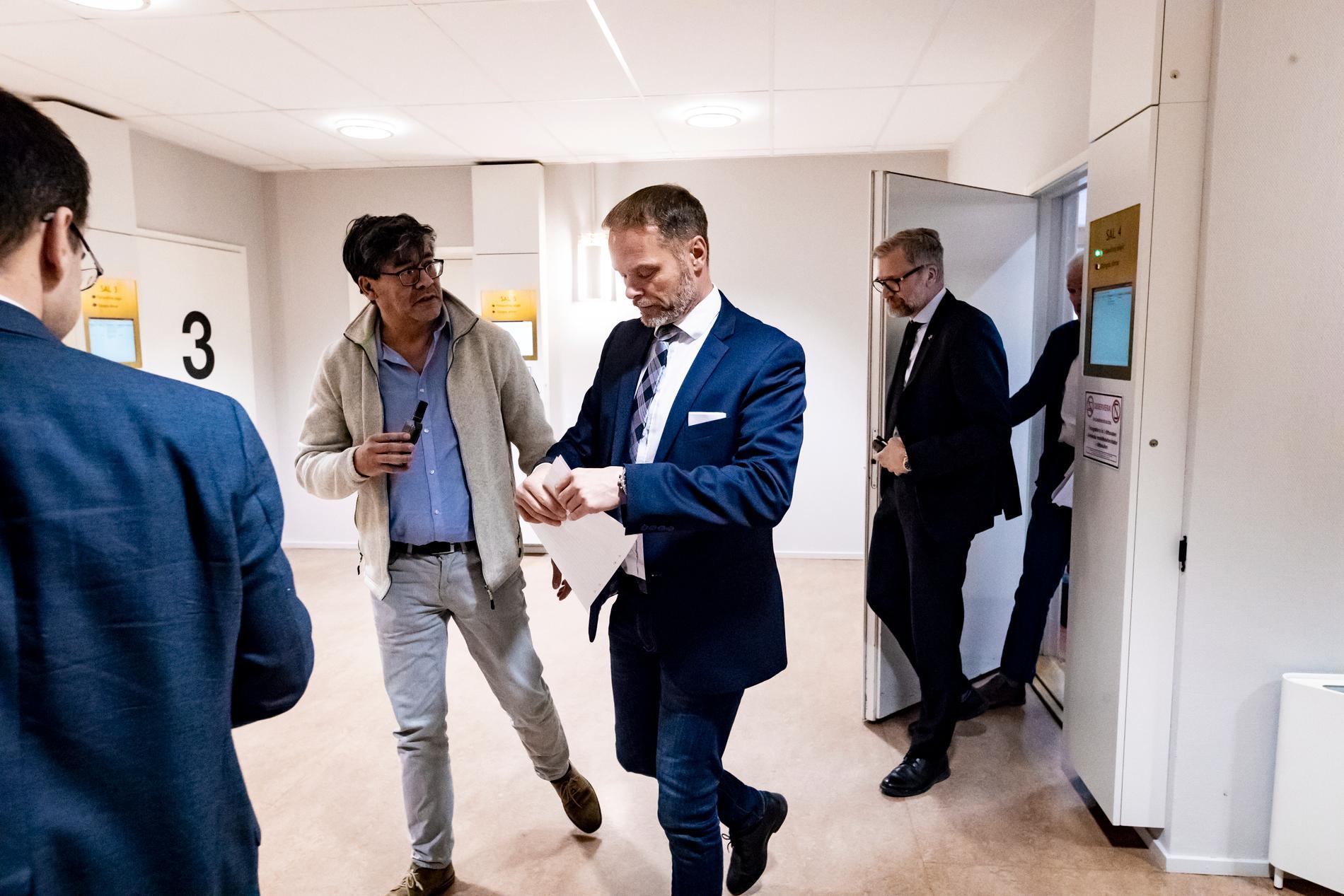 Stefan Jakobsson i Eskilstuna tingsrätt då rättegången inleddes.