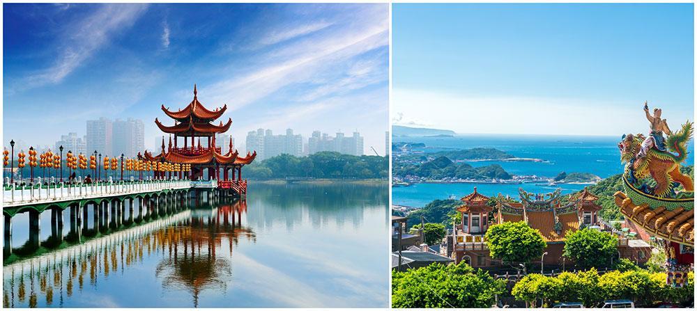 Taiwan har både spännande storstad och vackra landskap.