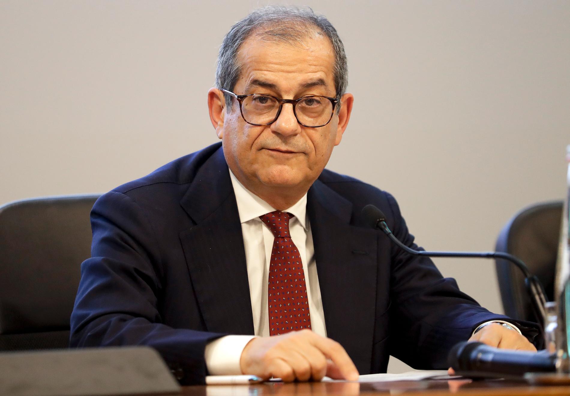 Italiens finansminister Giovanni Tria.