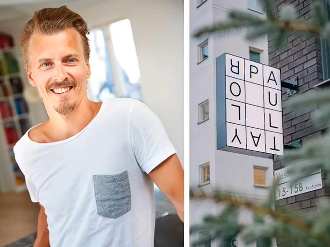 Paul Svensson driver restaurang i Sundbyberg med Tareq Taylor.