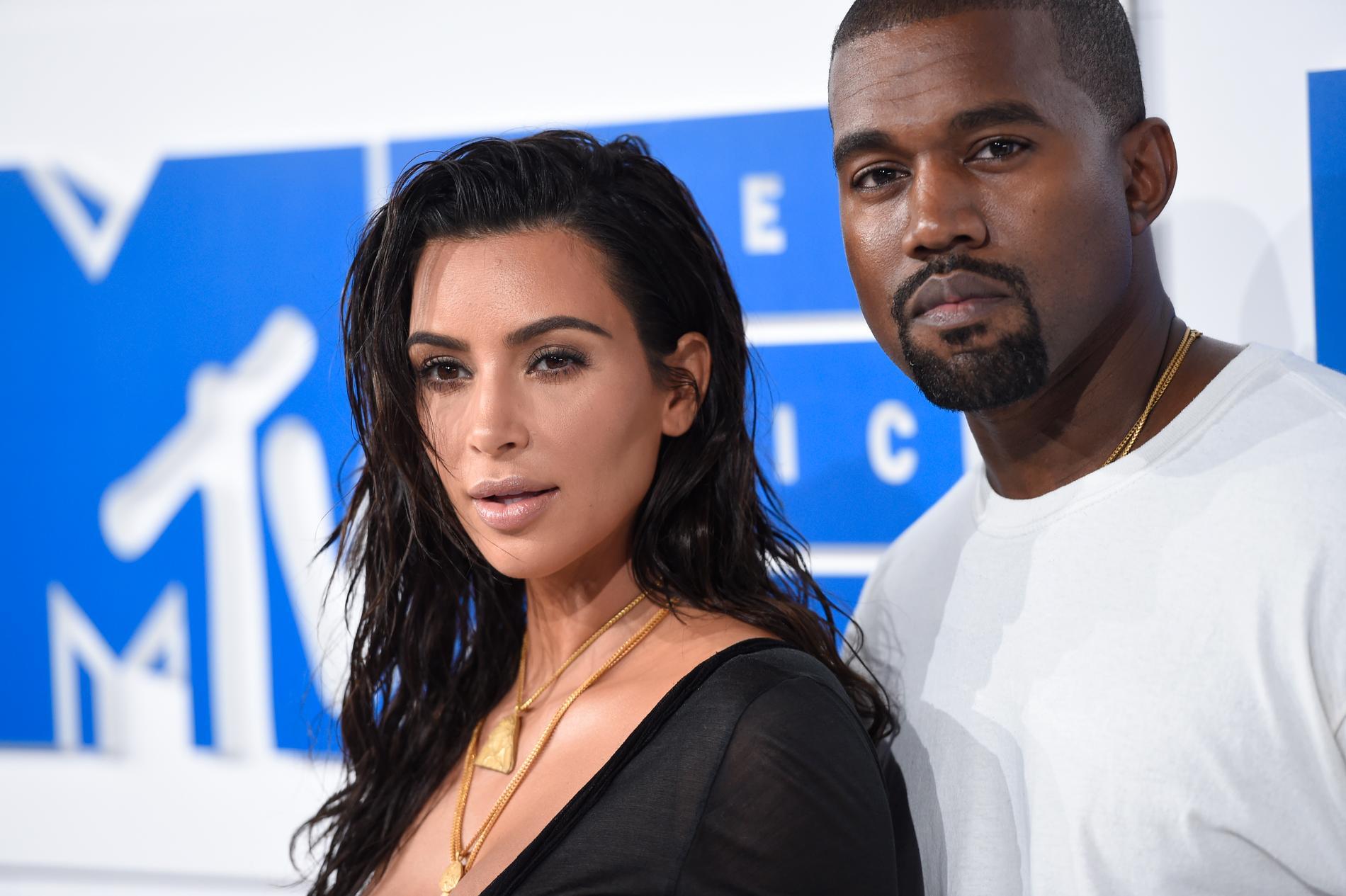Kim Kardashian West och Kanye West 2016.