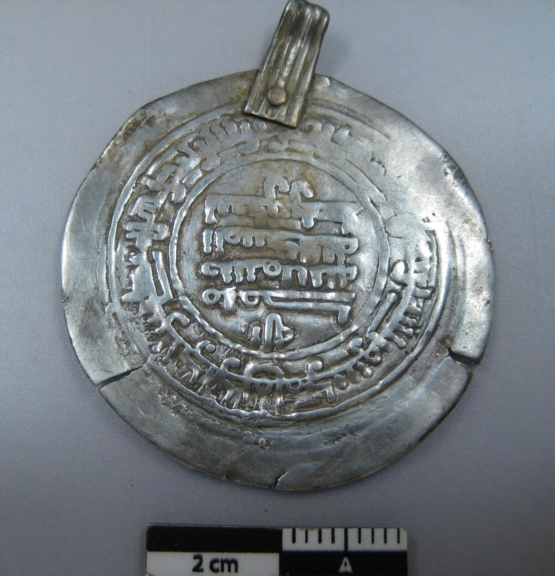 Flera silvermynt hittades vid utgrävningen, några har sitt ursprung i Mellanöstern.