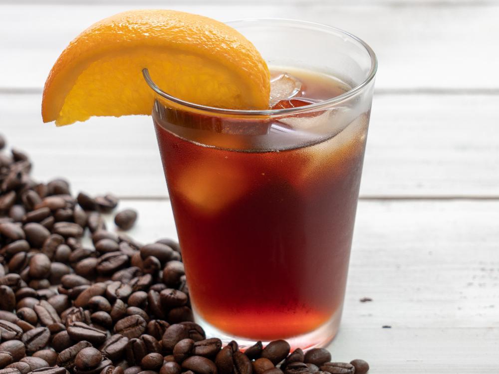 Mazagran – kaffe med citron och is.