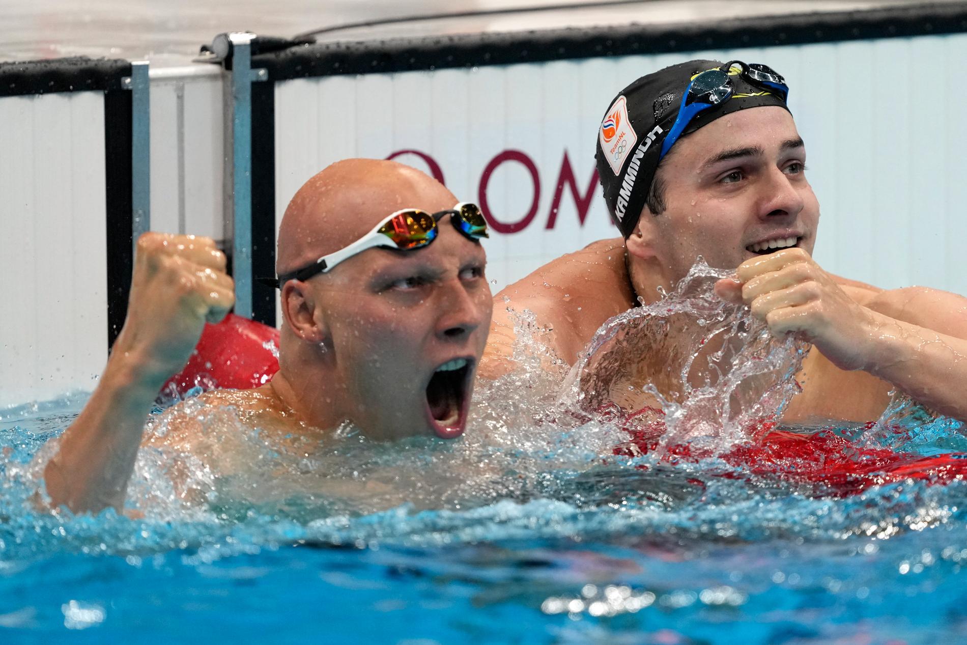 Matti Mattsson jublar efter sitt brons.