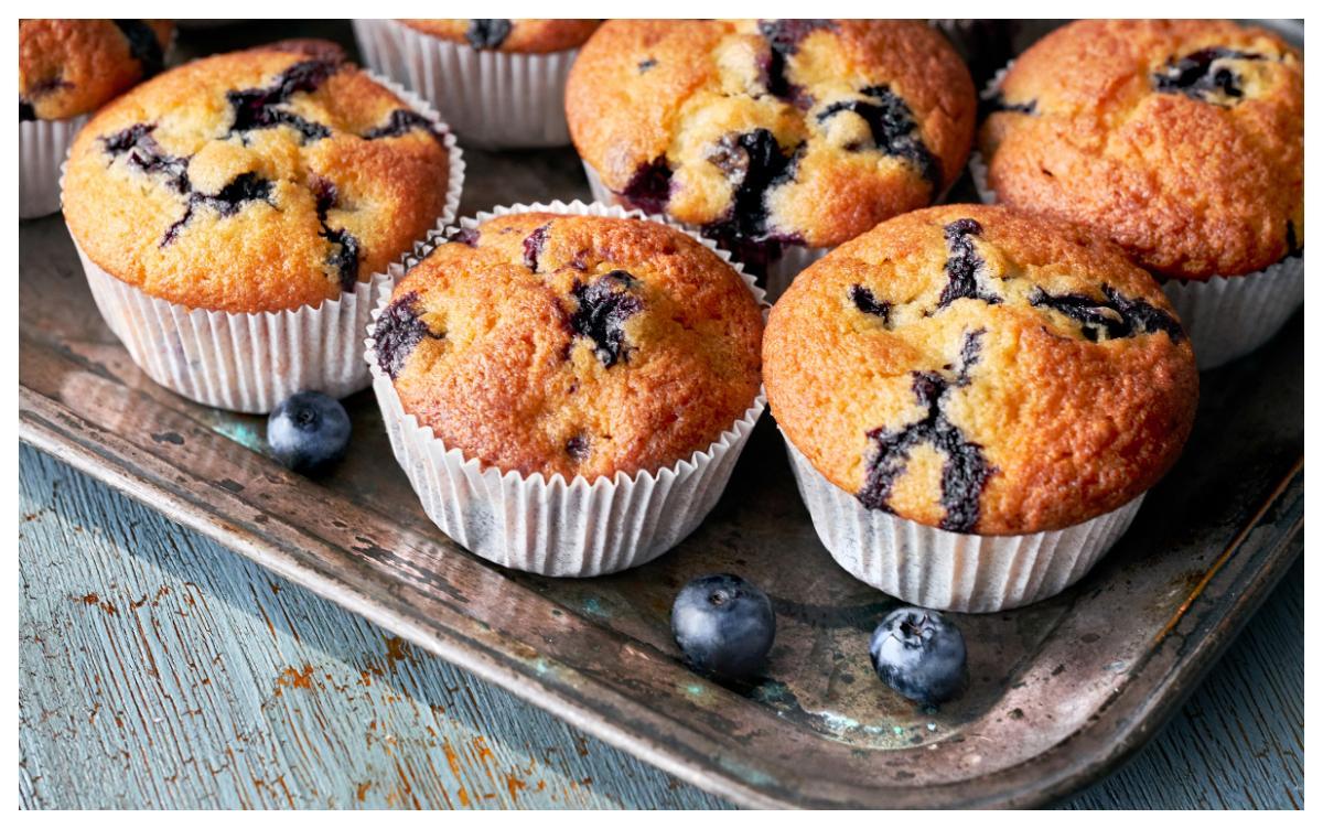 Blåbär är gott att smaksätta muffins med.