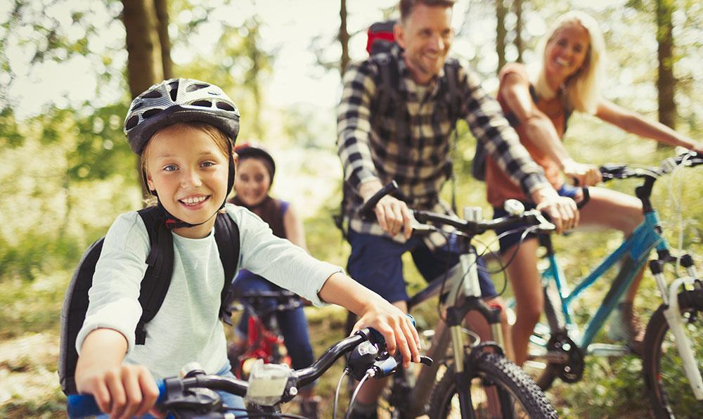 Hela familjen kan cykla Sjuhäradsrundan i Västergötland.