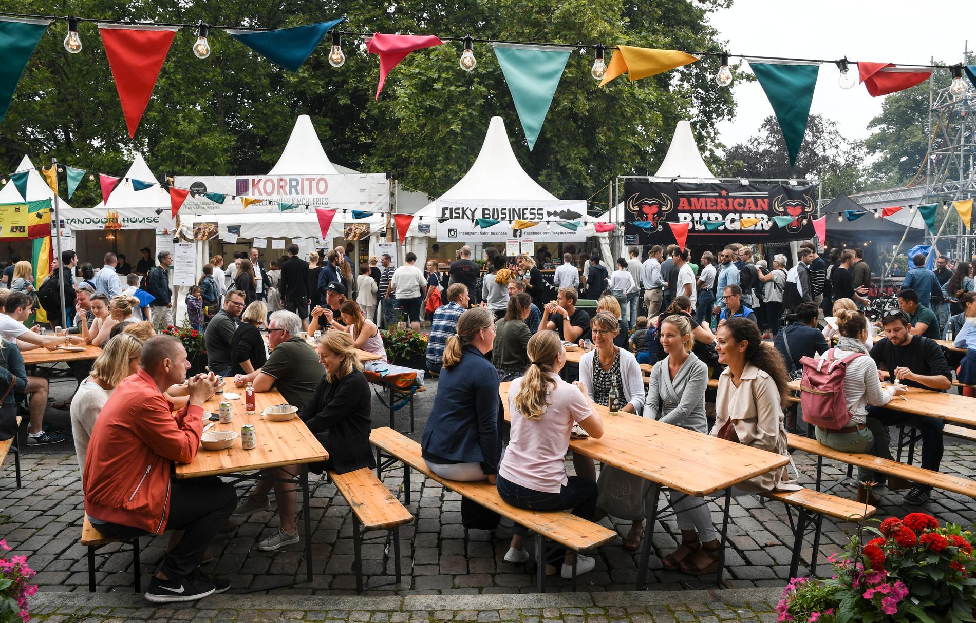 Stortorget 2017. Mattälten är alltid ett populärt inslag på Malmöfestivalen. I år kommer det att se annorlunda ut.
