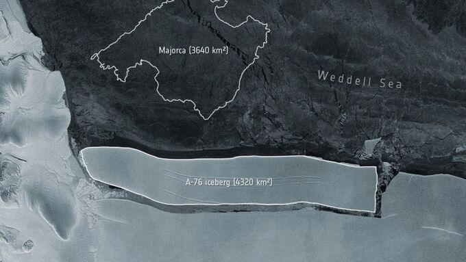 Isberget A-76 är större än Mallorca.