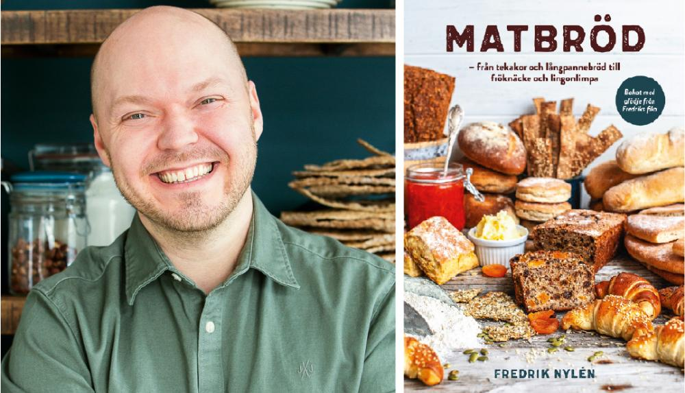 Fredrik Nylén med sin nya bakbok Matbröd.