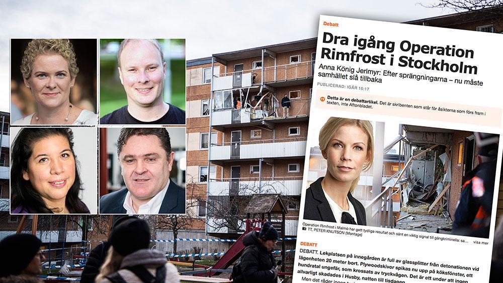 Det finns en annan sak som König Jerlmyr vägrar yppa ett ord om. Hennes del i framväxten av de gäng som förstör Stockholm, skriver de fyra S-politikerna Karin Wanngård, Anders Österberg, Galina Monsalves och Elvir Kazinic.