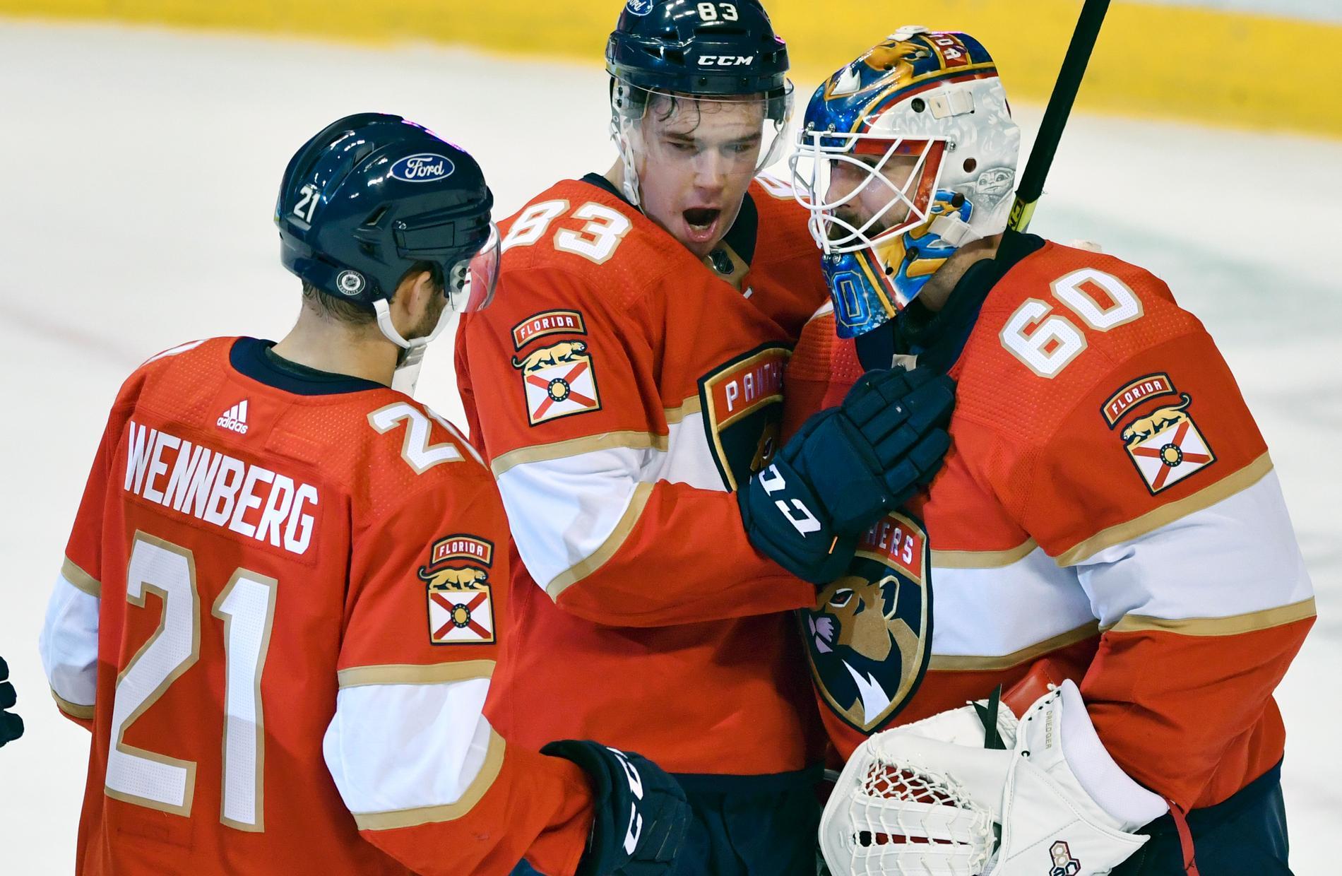 Florida med flera svenskar i laget är nu serieledare i NHL.