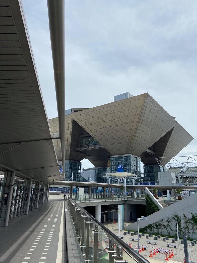 Tokyo Big Sight, platsen där alla världens journalister har sin bas under OS i Tokyo.