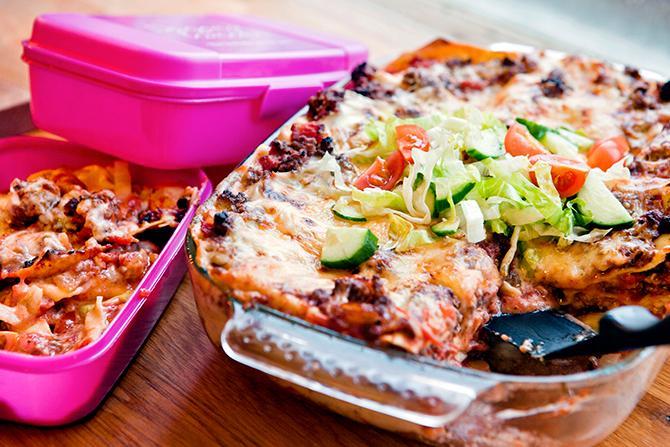 Klassisk lasagne med extra sting.