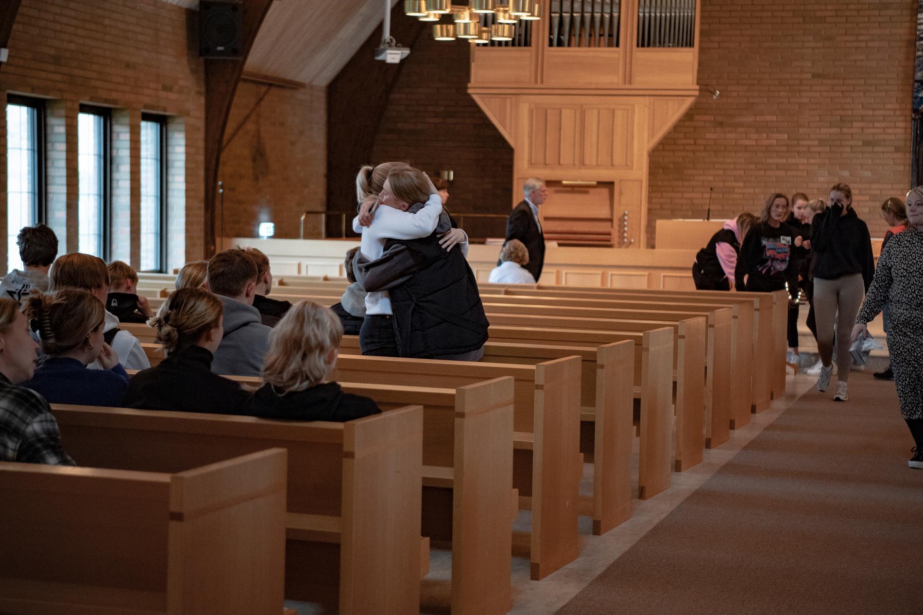 Sörjande samlades i Missionskyrkan i Vetlanda.