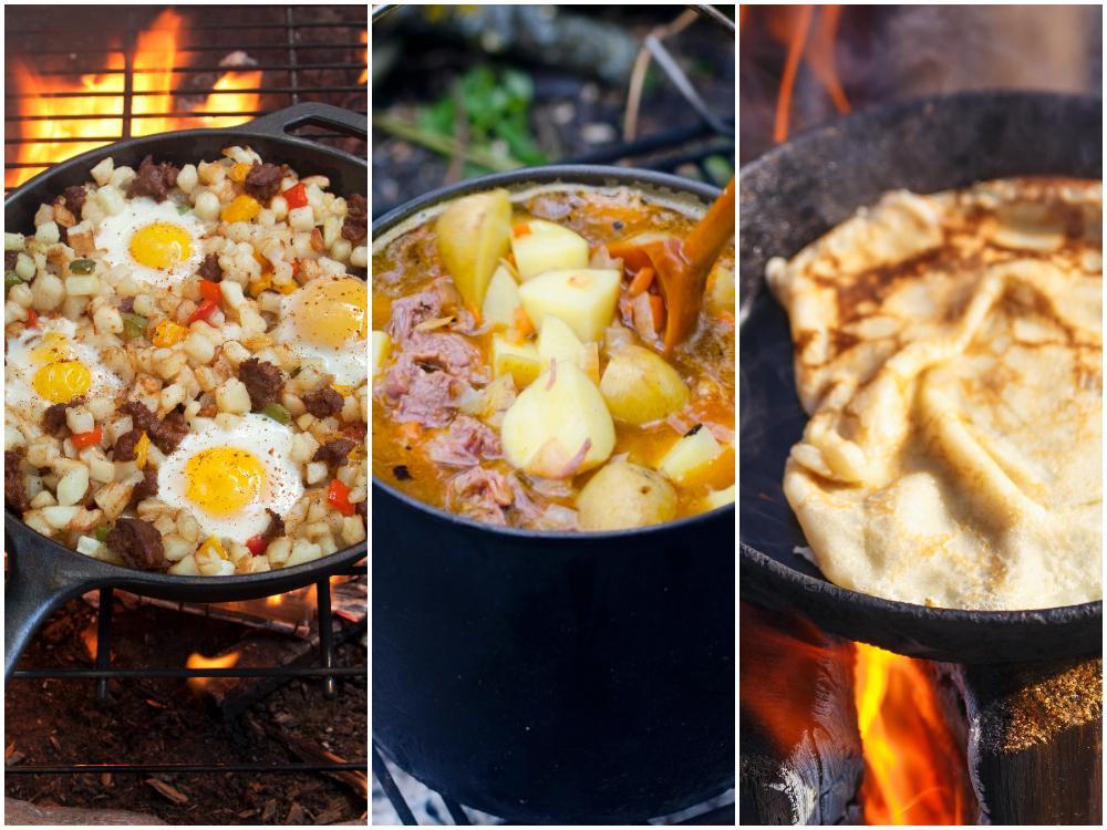 Pytt, soppa eller pannkaka är gott i skogen.