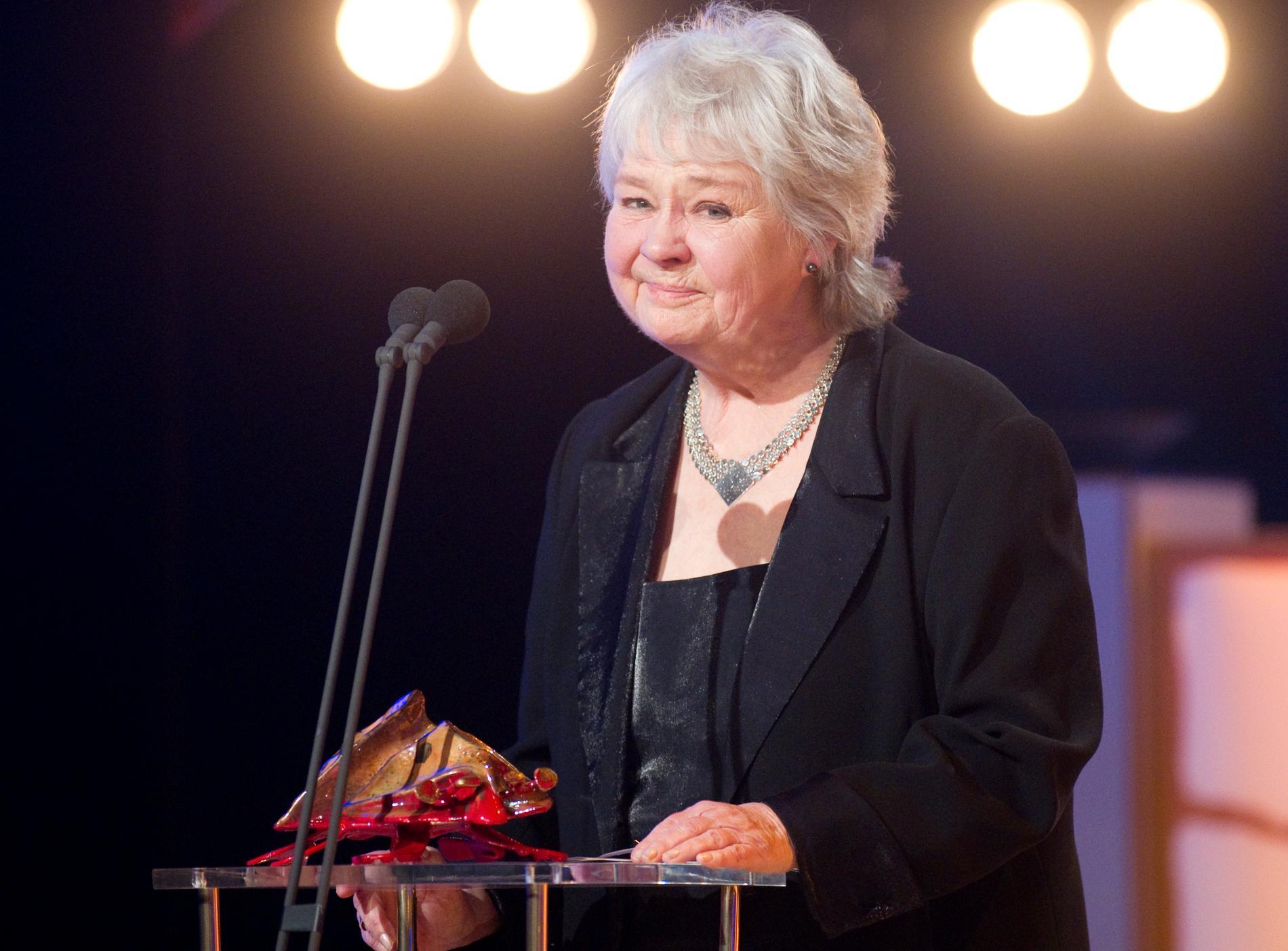 Mona Malm med sin hedersbagge 2011.